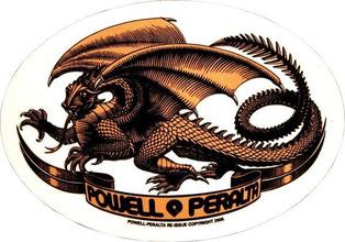 Powell Peralta | Наклейка Powell Peralta Oval Dragon | Clouty