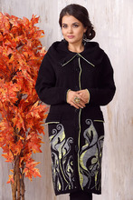 Московская Меховая Компания   Женский жакет из текстиля с капюшоном   Clouty
