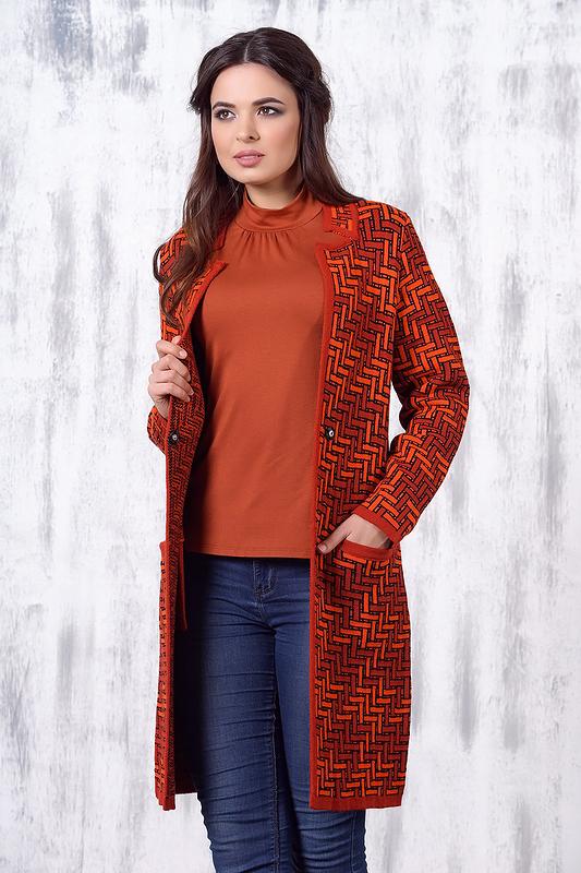 Московская Меховая Компания | терракотовый Женский жакет из текстиля | Clouty