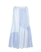 120% Lino | Юбка в бело-голубую полоску | Clouty