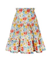 Arc-en-ciel | Многоярусная юбка из хлопка | Clouty