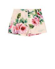 Dolce & Gabbana   Поплиновые шорты с цветочным принтом   Clouty