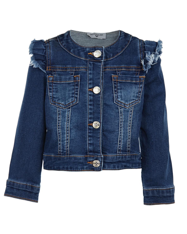Джинсовая куртка с вышивкой и рюшами CL000022742491 купить за 8099р 9a2694d02cd
