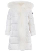 Il Gufo | Утепленное пальто приталенного кроя с отделкой из меха | Clouty