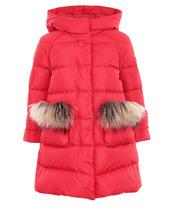 Il Gufo | Утепленное пальто с отделкой из меха | Clouty
