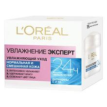 L'Oréal Paris | L`OREAL Увлажняющий уход Увлажнение Эксперт для нормальной и смешанной кожи | Clouty