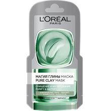 L'Oréal Paris   Маска для лица LOREAL МАГИЯ ГЛИНЫ Очищение и матирование 6 мл   Clouty