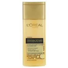 L'Oréal Paris | Тоник для лица LOREAL РОСКОШЬ ПИТАНИЯ ЭКСТРАОРДИНАРНОЕ МАСЛО очищающий 200 мл | Clouty