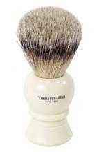 Truefitt & Hill | Кисть для бритья Ворс серебристого барсука/Слоновая кость с серебром Regency Truefitt&Hill | Clouty