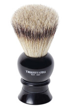 Truefitt & Hill | Кисть для бритья Ворс серебристого барсука/Эбонит с серебром Regency Truefitt&Hill | Clouty