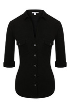 James Perse | Приталенная блуза с укороченным рукавом James Perse | Clouty