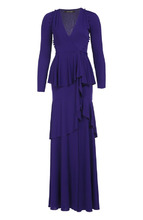 Roberto Cavalli   Приталенное платье в пол с высоким разрезом Roberto Cavalli   Clouty
