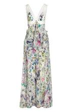 Roberto Cavalli   Шелковое платье в пол с завышенной талией и цветочным принтом Roberto Cavalli   Clouty