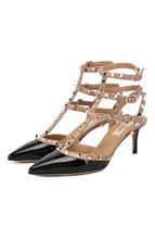 VALENTINO | Лаковые туфли Valentino Garavani Rockstud с ремешками Valentino | Clouty