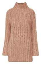 VALENTINO | Удлиненный шелковый свитер фактурной вязки Valentino | Clouty