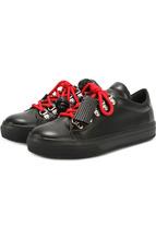 Tod's | Кожаные кеды с декорированной шнуровкой Tod's | Clouty