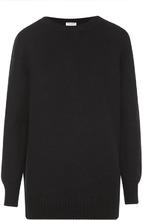 SAINT LAURENT | Кашемировый пуловер фактурной вязки с круглым вырезом Saint Laurent | Clouty