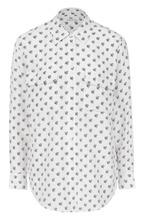 Equipment | Шелковая блуза с контрастным принтом и накладными карманами Equipment | Clouty