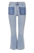RAG & BONE | Укороченные расклешенные джинсы с бахромой Rag&Bone | Clouty