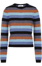 VALENTINO | Укороченный кашемировый пуловер в полоску Valentino | Clouty