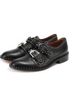 GIVENCHY | Кожаные ботинки с ремешками и заклепками Givenchy | Clouty