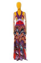 Roberto Cavalli   Платье-макси с вязаным лифом и открытой спиной Roberto Cavalli   Clouty