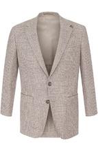 BOSS | Однобортный шерстяной пиджак в клетку BOSS | Clouty