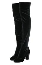 Le Silla | Бархатные ботфорты на устойчивом каблуке Le Silla | Clouty