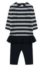 Il Gufo | Платье в контрастную полоску с брюками Il Gufo | Clouty