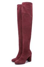Le Silla | Замшевые ботфорты на устойчивом каблуке Le Silla | Clouty