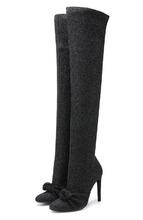 Giuseppe Zanotti   Ботфорты из металлизированного текстиля на шпильке Giuseppe Zanotti Design   Clouty