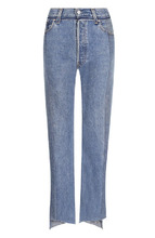 VETEMENTS   Укороченные джинсы с потертостями Vetements   Clouty