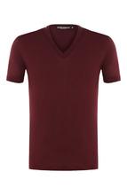 Dolce & Gabbana   Хлопковая футболка с V-образным вырезом Dolce & Gabbana   Clouty