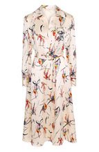 Tory Burch | Шелковое платье с ярким принтом и поясом Tory Burch | Clouty