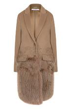 GIVENCHY | Пальто из смеси шерсти и кашемира с отделкой из меха лисы Givenchy | Clouty