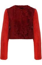 GIVENCHY | Укороченная шуба из меха норки и овчины с круглым вырезом Givenchy | Clouty