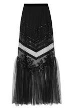 La Perla | Прозрачная юбка-макси с вышивкой La Perla | Clouty