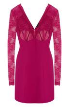 La Perla | Приталенное мини-платье с кружевным лифом La Perla | Clouty