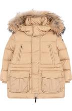 Il Gufo | Пуховая куртка  с меховой отделкой на капюшоне Il Gufo | Clouty