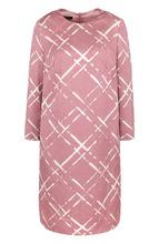 Escada | Платье прямого кроя с укороченным рукавом и круглым вырезом Escada | Clouty