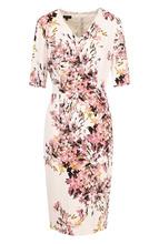 Escada | Приталенное платье-миди с принтом и V-образным вырезом Escada | Clouty