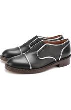 Marni | Кожаные ботинки с контрастной отделкой Marni | Clouty