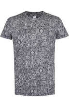 120% Lino | Льняная футболка с принтом 120% Lino | Clouty