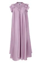 Balenciaga | Шелковое платье свободного кроя с оборками Balenciaga | Clouty