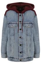 Denim X Alexander Wang | Джинсовая куртка с потертостями и капюшоном Denim X Alexander Wang | Clouty