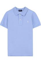 POLO RALPH LAUREN | Хлопковое поло с логотипом бренда Polo Ralph Lauren | Clouty