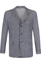 120% Lino | Однобортный льняной пиджак 120% Lino | Clouty