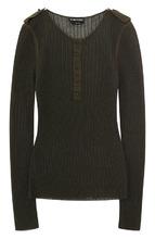 Tom Ford   Пуловер фактурной вязки из смеси кашемира и шелка Tom Ford   Clouty