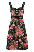Dolce & Gabbana | Приталенное платье-миди с цветочным принтом Dolce & Gabbana | Clouty