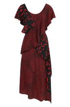 Diane Von Furstenberg | Шелковое платье асимметричного кроя с оборками Diane Von Furstenberg | Clouty